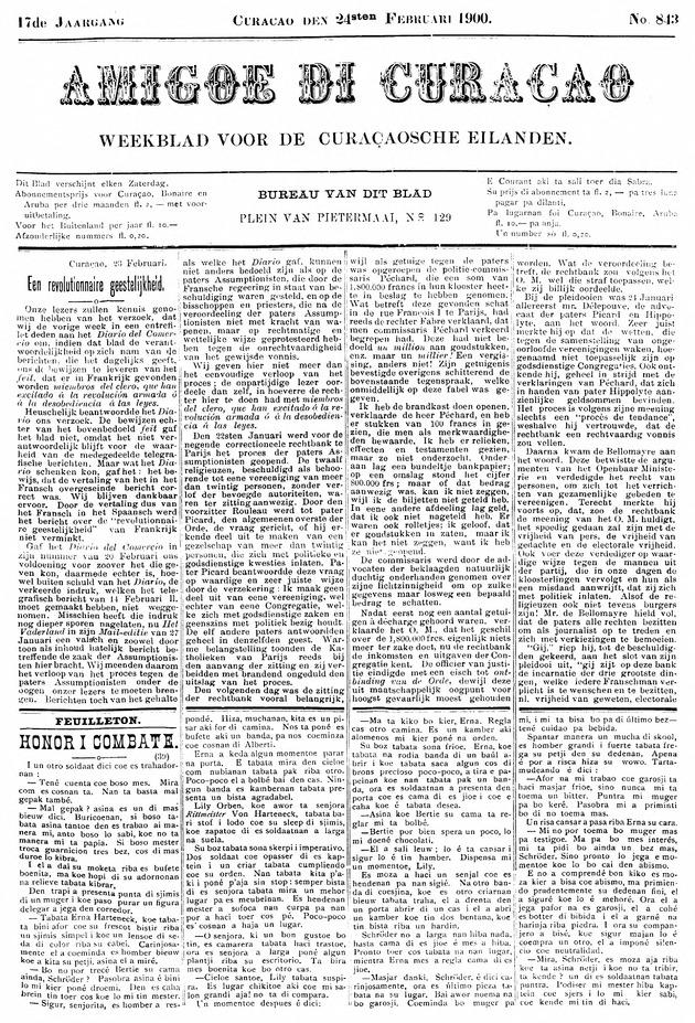 Amigoe di Curacao - Page 1