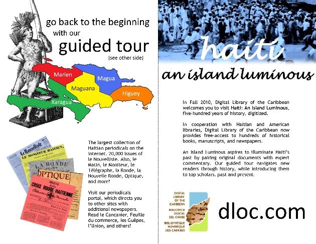 An Island Luminous Online Exhibit :  Promotional Handout - Page 1