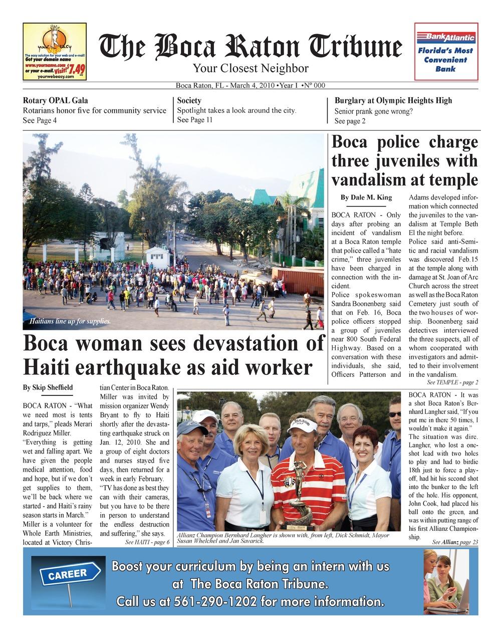 Boca Raton tribune - Page 1
