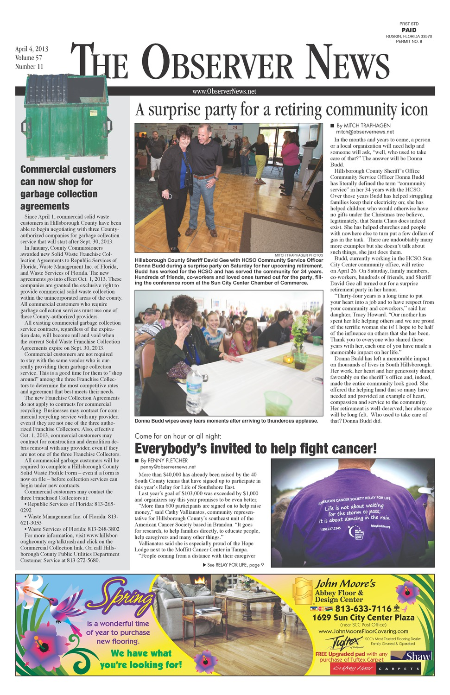 Observer news ( April 4, 2013 )