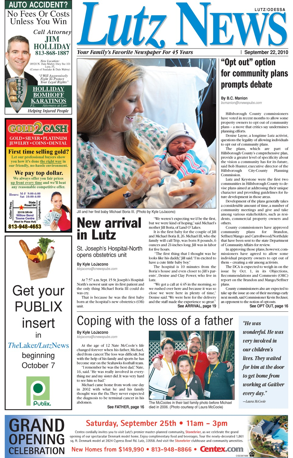 Lutz news - Page 1