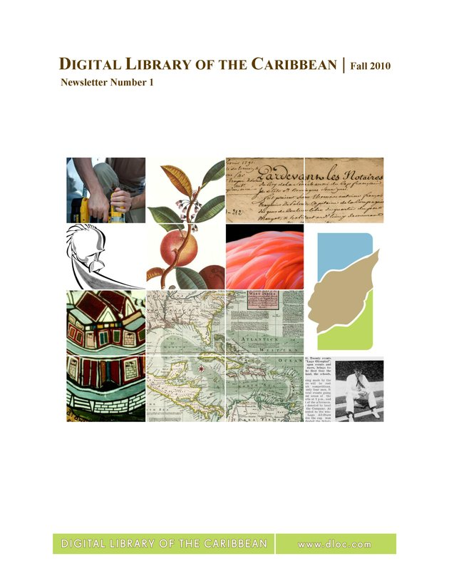 Digital Library of the Caribbean ( dLOC ) Newsletter - Page 1