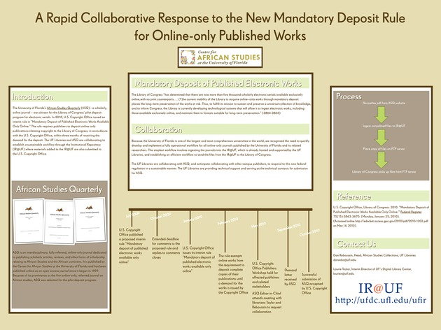 A Rapid Collaborative Response to the New Mandatory Deposit Regulation for Online-only Published Works