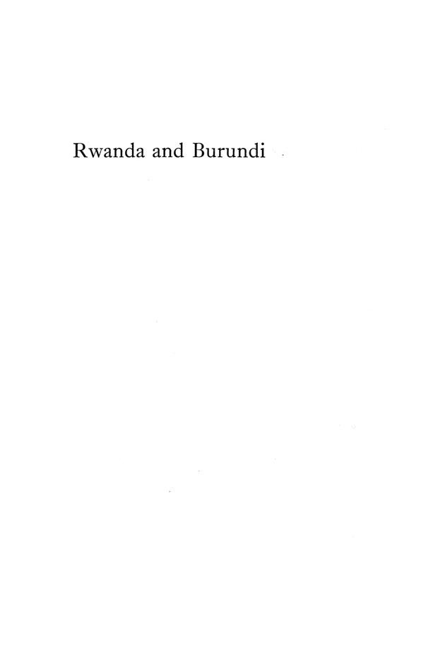 Rwanda and Burundi - Page i