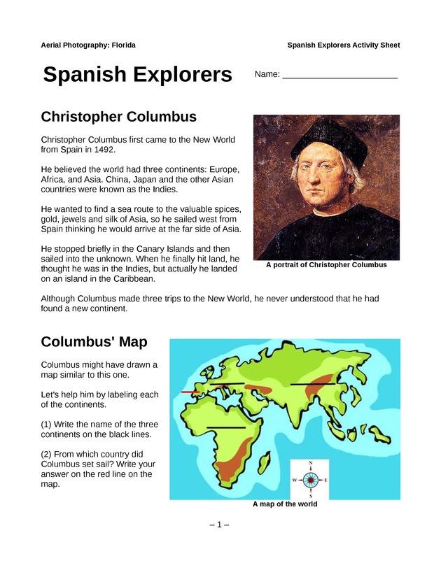 Spanish Explorers - Page 1