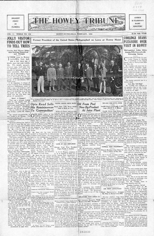 The Howey tribune - Page 1
