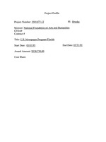 United States Newspaper Program : Florida