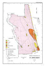 Mineral resources of St. Johns County, Florida 1989 ( FGS: Map series 126 )