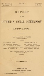 Report of the Isthmian canal commission, 1899-1901