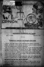 Windward Islands' opinion