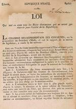 Loi qui met en vente tous les biens domaniaux qui ne seront pas reserves pour l'utilite de la Republique.