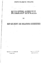 Bulletin officiel du Departement des relations exterieures; bi-monthly, with exception of some doubled-up issues, 1926-31