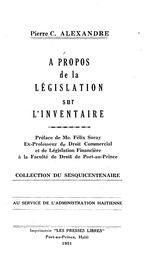 À propos de la législation sur l'inventaire