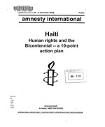 Haiti: Human rights and the Bicentennial -- a 10-point action plan