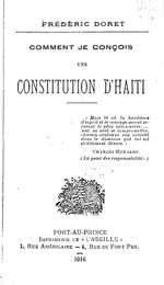 Comment je conçois une constitution d'Haïti