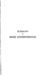 Éléments de droit constitutionnel