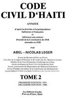 Code civil d'Haiti