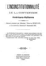 L'inconstitutionnalité de la Convention américano-haïtienne