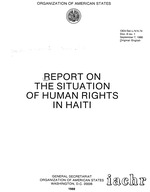 Report on the situation of human rights in Haiti / vi, 210 p. ; 28 cm., Organization of American States, 1988