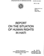 Report on the situation of human rights in Haiti / Organization of American States, 1990