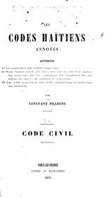 Les codes haïtiens annotés