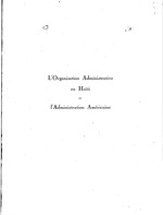 L'organisation administrative en Haïti et l'administration américaine
