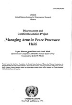 Managing arms in peace processes