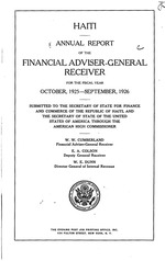 Annual report of the [U.S.] Financial Adviser-General Receiver for the fiscal year… (run is from 1923/24 to 1932/33)