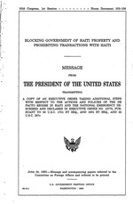 Blocking government of Haiti property and prohibiting transactions with Haiti