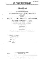 U.S. policy toward Haiti