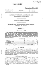Haiti Empowerment, Assistance, and Rebuidling Act of 2010, rpt. To accompany S3317, 7p.