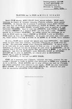 Traditions sur le regne de Mwezi Kisabo. Renseignements obtenus du Chef Baranyanka par l'intermediaire du Resident O. Coubeau. June, 1935. 1 page.