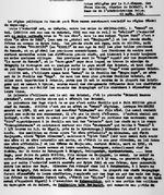 L'Organisation Politique du Rwanda au debut de l'Occupation Belge (1916). Notes redigees par le R.P. Classe, des Peres Blancs, Mission de KABGAYI, a la demande de l'Administration Belge. 28 aout, 1916. 11 pages.
