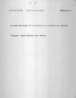 Dossier Dikumwami. Folio 1. Folio no. 2. Notice. Folio no. 3. Population d'apres le recencement fait en 1929; Gros et petit bétail d'apres le recencement fait en 1929. Folio no. 4. Richesse et train de vie. Folio no. 5. Importance du commandement. Folio no. 6. Prestations au Roi. 6 pages.