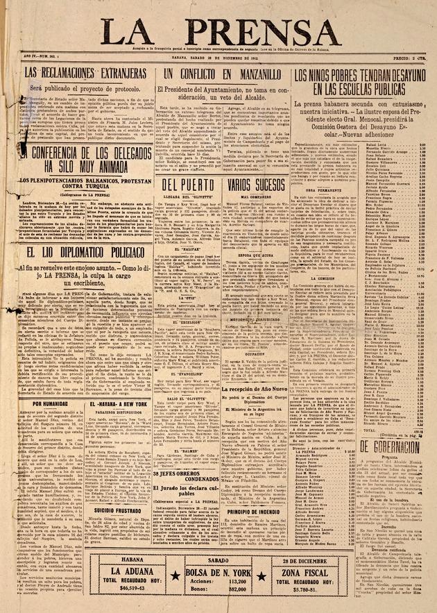 La Prensa de la Habana - Page 1