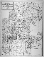 Carte de la region des grands lacs Africains indiquant les limites politiques des etats indigenes en 1530. 1940.