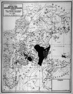 Carte de la region des grands lacs Africains indiquant les limites politiques des etats indigenes vers 1600. 1934.