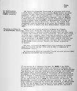 Ruanda 1913. Ier etablissement des Peres Blancs a Rambura (Bushiru); Fondation du Seminaire de Nyaruhengeri (Kansi). Typescript. 1 page.