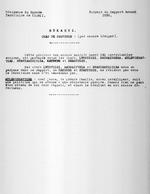 Residence du Ruanda. Territoire de Kigali. [Province de] Rukaryi. Chef de Province: (pas encore designe). Extrait du Rapport Annuel 1930. Typescript. 1 page.