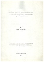 Agricultural labor in the American South, 1860-1870