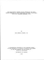 The relationship between palpal morphology and host-seeking behavior in adult mosquitoes (Diptera: culicidae), especially Culiseta melanura (Coq.)