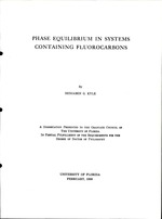 Phase equilibrium in systems containing fluorocarbons
