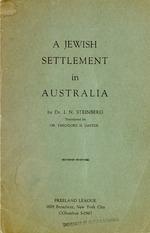 A Jewish settlement in Australia