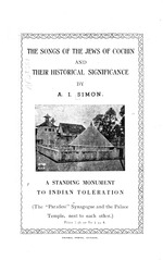 The songs of the Jews of Cochin and their historical significance