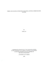 Timing and channel estimation in multiple-antenna communication systems