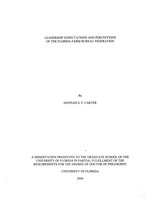 Leadership expectations and perceptions of the Florida Farm Bureau Federation