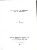 Language acquisition of 1980 Cuban immigrant junior high school students