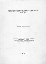 The economic development of Florida, 1870-1930