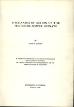 Mechanism of action of the fungicide copper oxinate