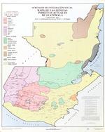 Mapa de las lenguas indigenas actuales de Guatemala, Compilado por A. Goubaud Carrera y A. Arriaga; Seminario de Integracion Social.